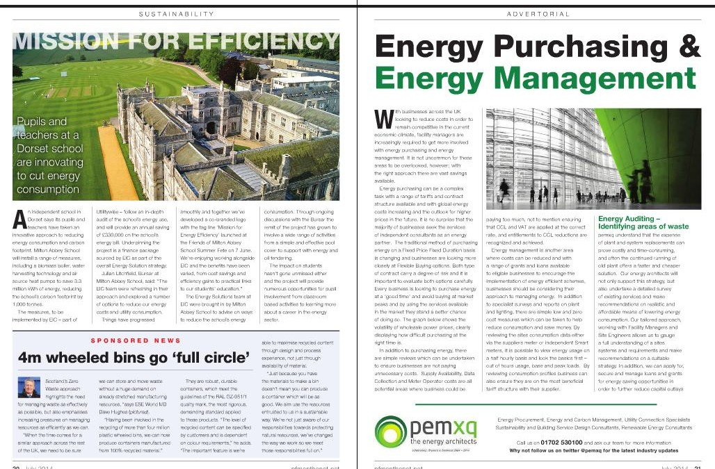 ESE World article published in July's edition of PFM
