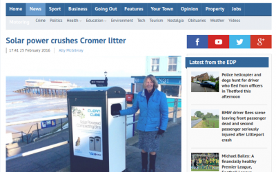 North Norfolk DC Trials Clean Cube Compacting Smart Bin